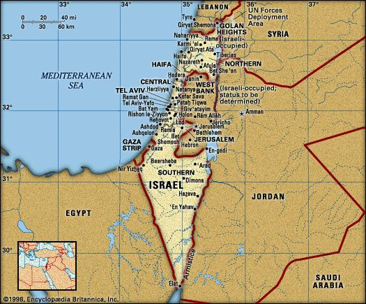 map-of-israel